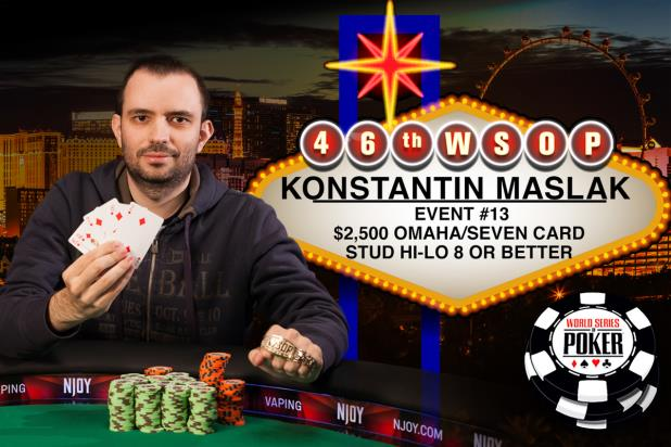 KONSTANTIN MASLAK SCOOPS UP A WSOP GOLD BRACELET IN EIGHT-OR-BETTER EVENT