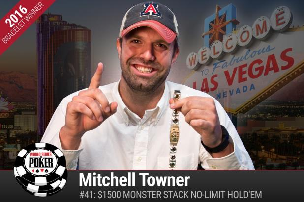 MITCHELL TOWNER WINS MILLION-DOLLAR MONSTER-SIZED VICTORY AT 2016 WSOP