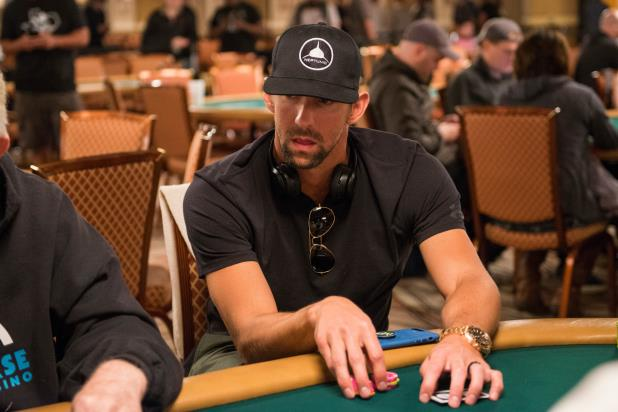 OLYMPIC CHAMP MICHAEL PHELPS  APPEARANCE HIGHLIGHTS OPENING-DAY WSOP ACTION