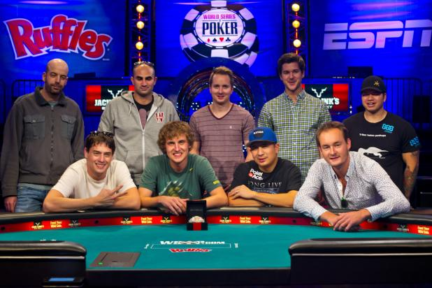 FINAL TABLE SET AT 2013 WSOP MAIN EVENT