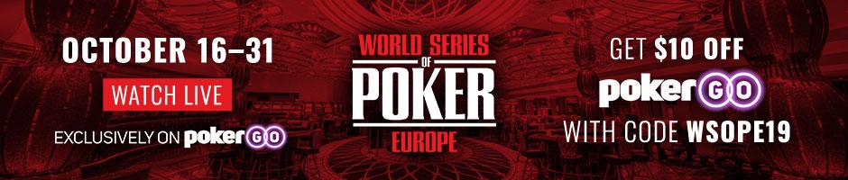 WSOP Europe 2019 | PokerGo