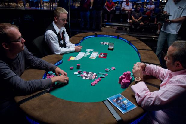 Sam Farha Takes the Lead Into Heads-Up Play