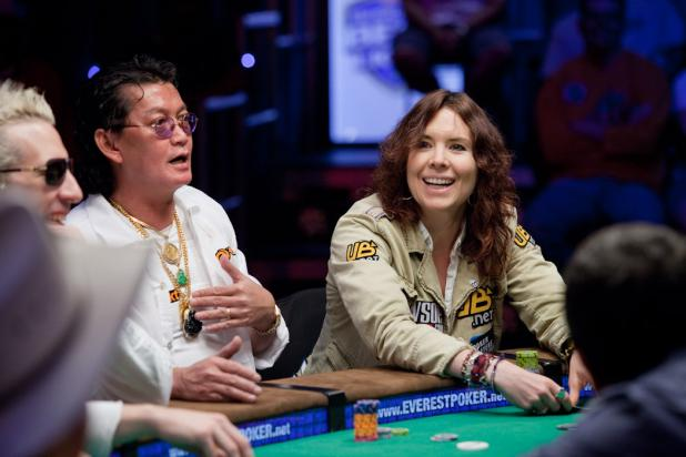 Scotty Nguyen and Annie Duke