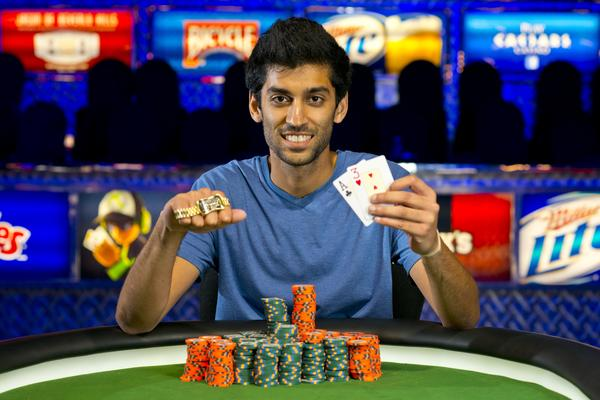 Article image for: SANDEEP PULUSANI OVERCOMES 7-TO-1 CHIP DEFICIT TO WIN FIRST GOLD BRACELET