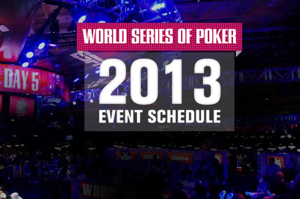 44th ANNUAL WORLD SERIES OF POKER SCHEDULE ANNOUNCED