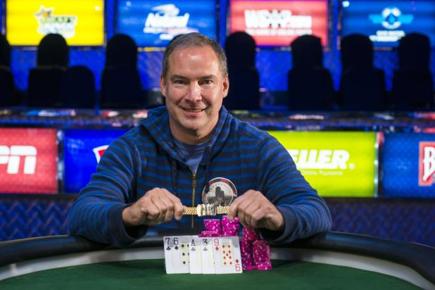 Article image for: TED FORREST BESTS PHIL HELLMUTH TO WIN SIXTH BRACELET