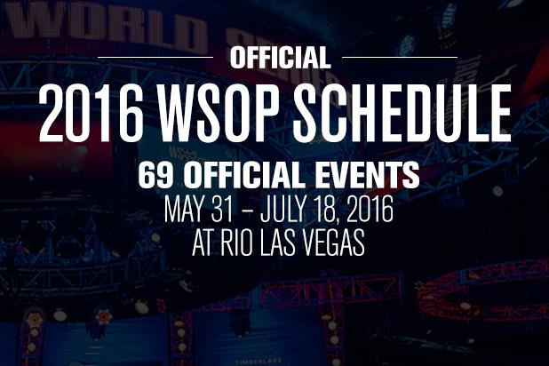 WSOP FINALIZES 2016 SCHEDULE WITH 69 EVENTS ON TAP
