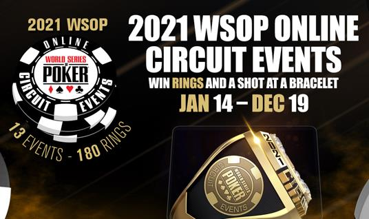 WSOP ANNOUNCES ONLINE CIRCUIT SERIES FOR 2021 SEASON