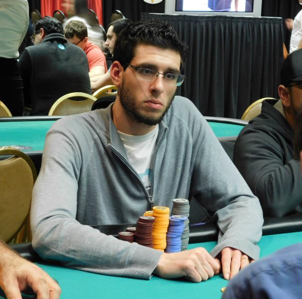 ANTHONY MAIO BAGS DAY 1B CHIP LEAD IN HARRAH