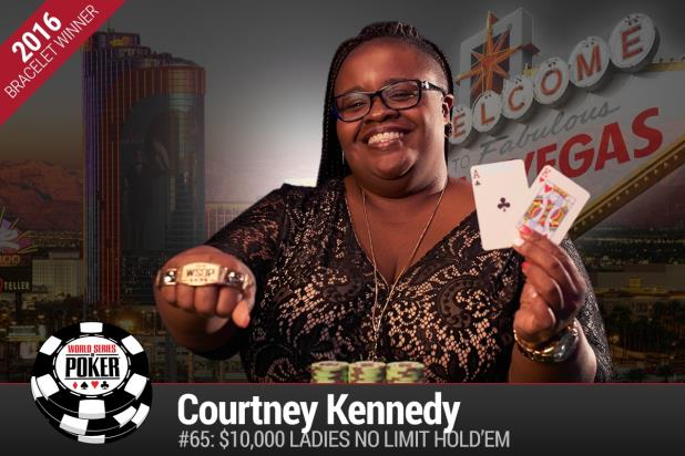 COURTNEY KENNEDY CROWNED 2016 LADIES WORLD POKER CHAMPION