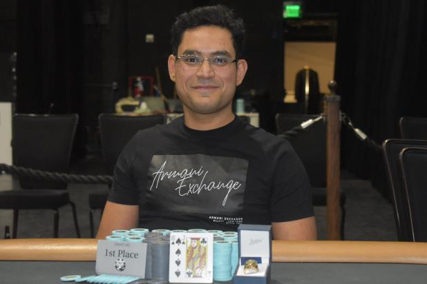 SHIVA DUDANI WINS HORSESHOE HAMMOND MAIN EVENT