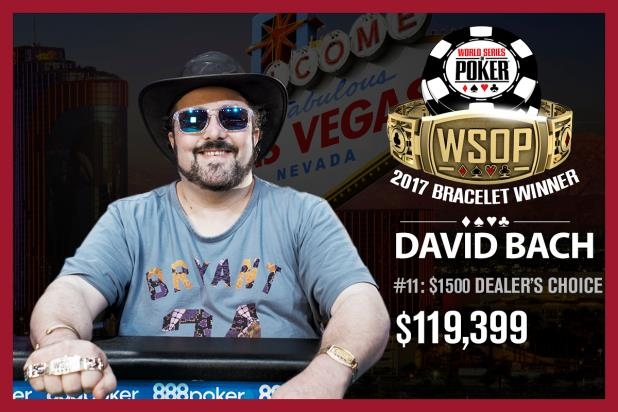 DAVID BACH WINS $1,500 DEALERS CHOICE