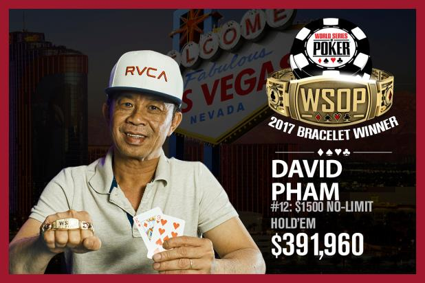 Article image for: DAVID PHAM WINS THIRD CAREER BRACELET IN $1,500 NO-LIMIT HOLD'EM EVENT