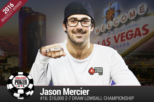 Article image for: JASON MERCIER WINS FOURTH CAREER GOLD BRACELET