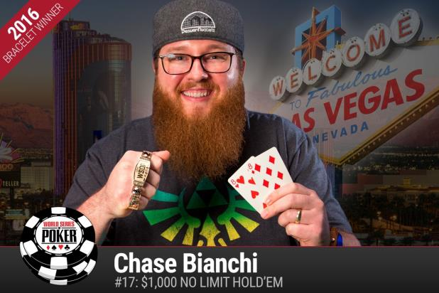 CHASE BIANCHI PREVAILS IN $1,000 NO-LIMIT HOLD