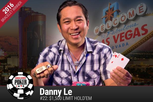 DANNY LE WINS FIRST WSOP GOLD BRACELET, TAKES DOWN LIMIT HOLD'EM EVENT