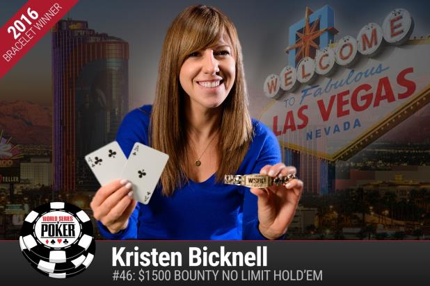 KRISTEN BICKNELL BECOMES FIRST FEMALE GOLD BRACELET WINNER OF 2016 WSOP