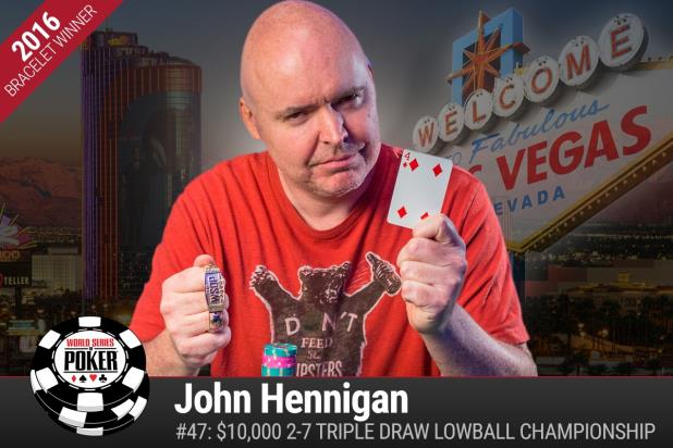 Article image for: WORLD CLASS: JOHNNY WORLD HENNIGAN WINS $10K TRIPLE-DRAW LOWBALL LIMIT CHAMPIONSHIP