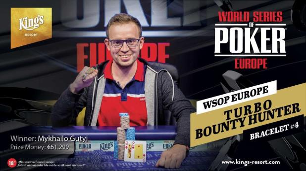 MYKHAILO GUTYI WINS WSOPE €1,100 TURBO BOUNTY