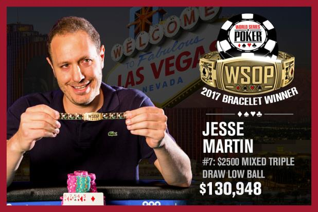 Article image for: JESSE MARTIN STRIKES GOLD IN $2,500 MIXED TRIPLE LOWBALL