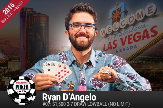 Article image for: RYAN D'ANGELO WINS 2-7 DRAW LOWBALL TOURNEY, EARNS FIRST GOLD BRACELET