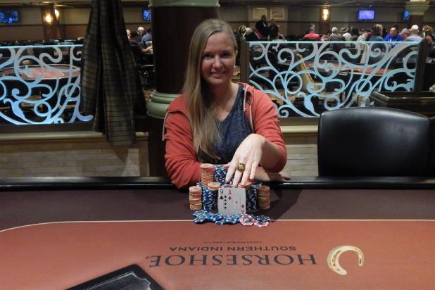 HEATHER ALCORN WINS HORSESHOE SOUTHERN INDIANA MAIN EVENT