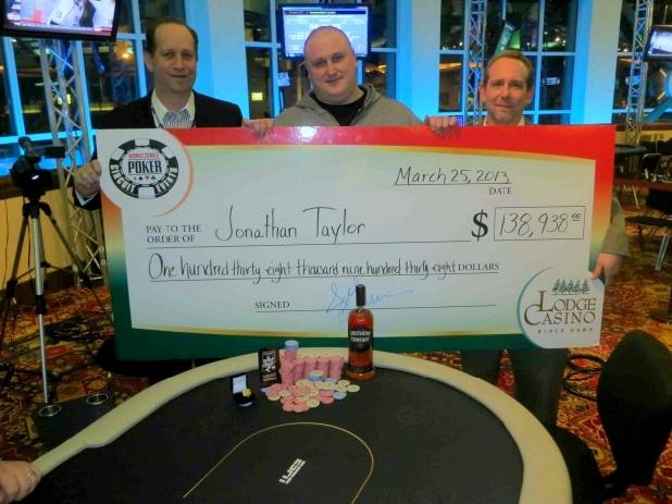 JONATHAN TAYLOR WINS THIRD RING IN LODGE CASINO MAIN EVENT