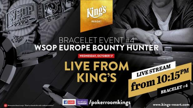 €1,100 NLHE TURBO BOUNTY HUNTER LIVE UPDATES