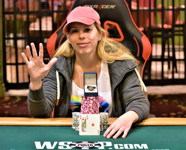 Article image for: LONI HARWOOD WINS THE RIO HIGH ROLLER FOR HER FIFTH CIRCUIT RING