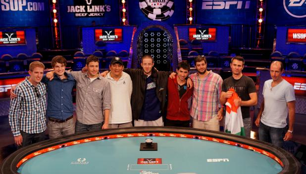 The 2012 WSOP Main Event Final Table