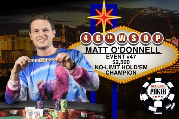 Article image for: MATT O'DONNELL WINS HIS FIRST WSOP GOLD BRACELET AND $551,941