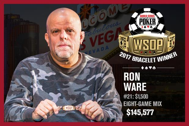 RON WARE STRIKES GOLD IN EVENT 21, EIGHT-GAME MIX