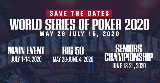 Games With Gold June 2020.Wsop News World Series Of Poker Dates Set For 2020 Edition