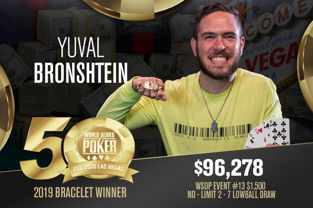 Article image for: YUVAL BRONSHTEIN WINS FIRST WSOP GOLD BRACELET AT TENTH FINAL TABLE