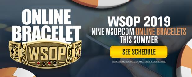 WSOP.COM ONLINE BRACELET EVENTS ANNOUNCED FOR 2019 WSOP