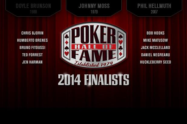 TEN FINALISTS FOR POKER HALL OF FAME UNVEILED
