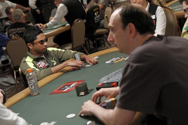 Vivek Rajkumar and Erik Seidel in the $10K Heads-Up