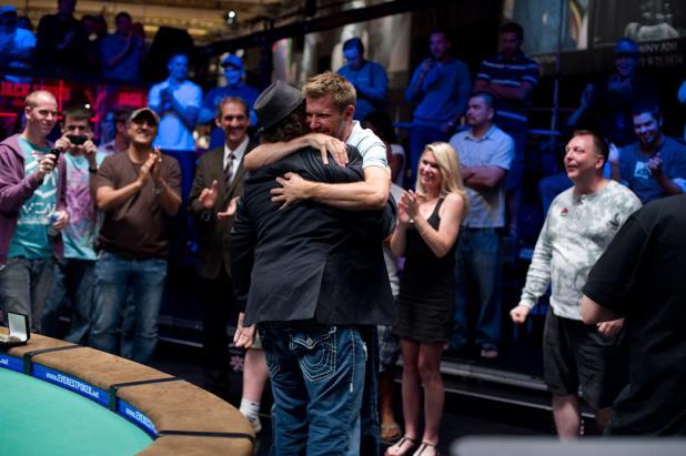 A Victory Hug From Layne Flack