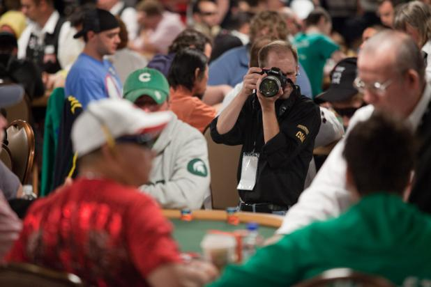 Photojournalist BJ Nemeth Takes a Photo of Johnny Chan
