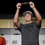 Bracelet Ceremony for Event #1: $565 Casino Employees No-Limit Hold'em winner Brandon Barnette