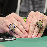 Baruch Thaler, with winner rings from 2 WSOP Circuit Events