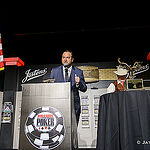 WSOP Executive Director Ty Stewart addressed the players in Event 40 Seniors No-Limit Hold'em