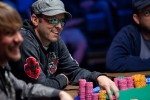 Eric Cloutier at the final table of the $10k 2-7 Lowball championship event.