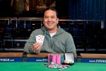 Matt Keikoan poses with bracelet #2 after taking down the $10k Limit Hold'em Championship
