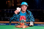 Just two months after his 21st birthday, Steven Kelly poses with his first WSOP bracelet