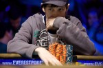 Raymond Coburn studies an opponent during the final table of event #45.