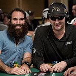 Alex Keating and Phil Hellmuth