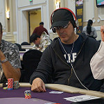 Phil Laak on Day 1B of Bike main event