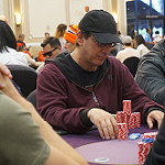 Phil Laak on Day 2 of Bike main