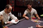 Barry Greenstein is the author of one of the foremost books on poker, Ace on the River and is known to give away a signed copy to whomever busts him. Daniel Steinberg waits eagerly for his copy.